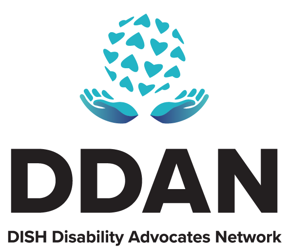 DDAN DISH Disability Advocates Network Employee Resource Group Color Logo